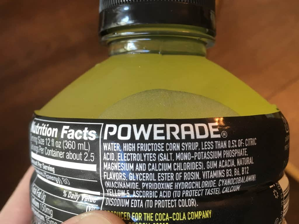 can you drink powerade with plant based diet